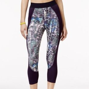 NWT Jessica Simpson warmup cropped leggings S